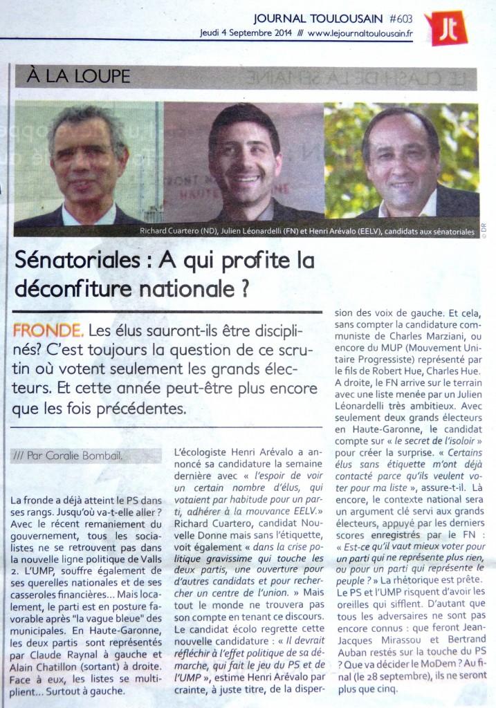 julienleonardelli-article-lejournaltoulousain-sénatoriales2014