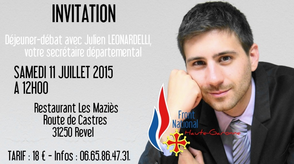 invitation dejeuner debat leonardelli 11 juillet 2015